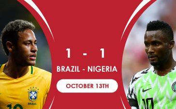 Brazil 1 - Nigeria 1 (October 13th) - International Friendlies (REVIEW)